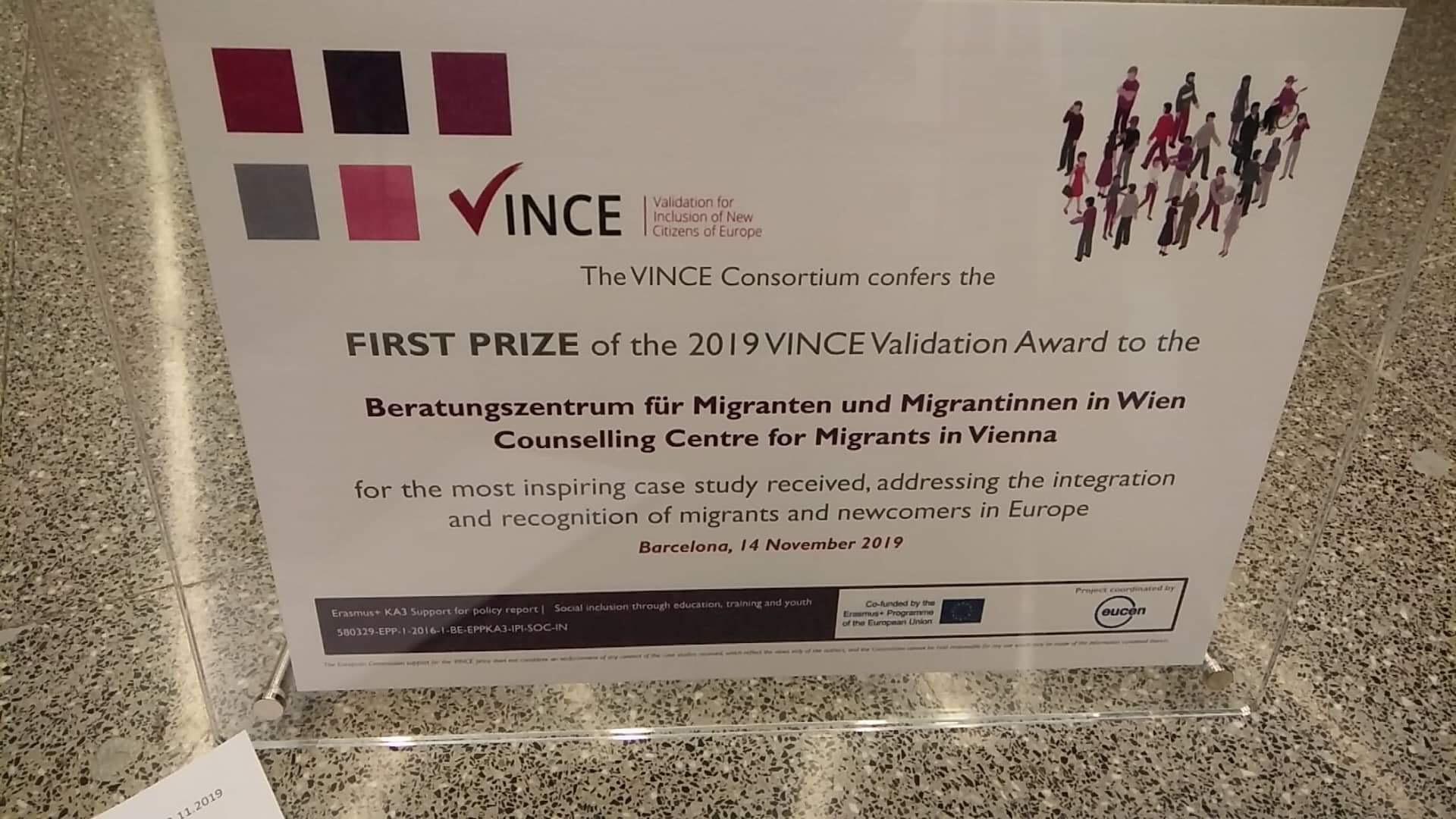 VINCE prize 2019